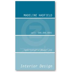 The perfect painter or interior designer BUSINESS CARD design representing a paint chip swatch. More colors available in store! Modern, trendy and cool...