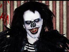 "Laughing Jack the Evil Clown. A titular antagonist of the creepypasta story of the same name and its' prequel, ""The Origin of Laughing Jack. Mask Makeup, Sfx Makeup, Cosplay Makeup, Creepypasta Videos, Skull Makeup Tutorial, Fantasy Make Up, Laughing Jack, Sugar Skull Makeup, Horror Makeup"