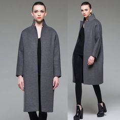 GEOX Grey Coat | Female Elegance | Pinterest
