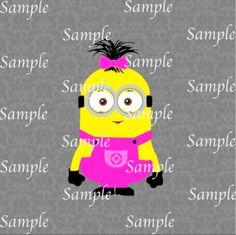 Girl Minion SVG, DXF, EPS, PNG Digital File