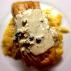 Mahi Mahi in Caper Garlic Cream Sauce