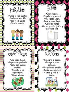 Bilingual Teacher Clubhouse: Spanish Expectation Posters