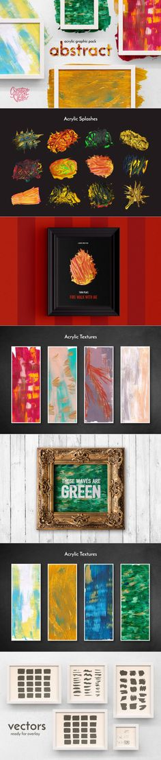 Free Abstract Acrylic Graphic Pack by Creative Veila #freebie