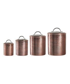Look what I found on #zulily! Rockefeller Four-Piece Food Storage Canister Set by Global Amici #zulilyfinds
