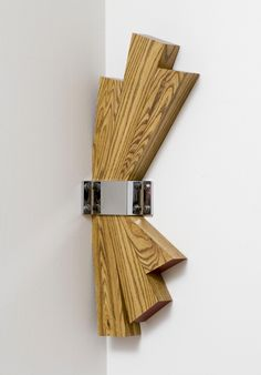 Richard Artschwager, Corner, From the Indianapolis Museum of Art: The unusual location for Richard Artschwager's sculpture Corner can serve to take the viewer by surprise. Abstract Sculpture, Wood Sculpture, Wall Sculptures, Richard Artschwager, Art Carved, Wooden Wall Art, Wood And Metal, Wood Carving, Painting On Wood