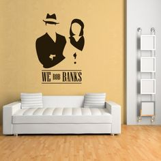 We rob banks Wall Sticker Bonnie u0026 Clyde Wall Art : scarface wall decal - www.pureclipart.com