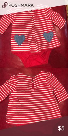 ab3463b76 Baby Gap Intarsia red bow sweater romper product details  Soft ...