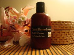 Cocoa Butter Lotion - Thick & Creamy (Unscented) 4oz Bottle