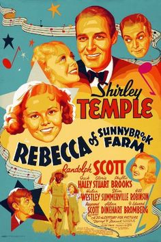 Rebecca of Sunnybrook Farm (1938)  Rebecca's Uncle Harry leaves her with Aunt Miranda who forbids her to associate with show people. But neighbor Anthony Kent is a talent scout who secretly set it up for her to broadcast.  Shirley Temple, Randolph Scott, Jack Haley