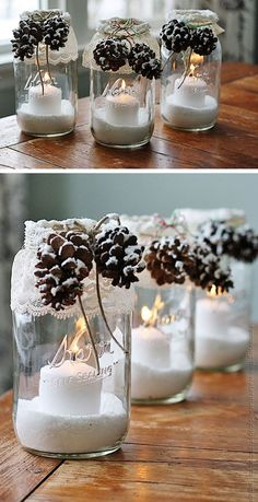 Pine Cone Candles | DIY Christmas Gifts in a Jar Ideas | DIY Last Minute Christmas Gifts