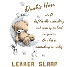 Afrikaanse Quotes, Goeie Nag, Good Night Sweet Dreams, Qoutes, Cards, Blue, Quotations, Quotes, Maps