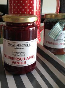 Sauerkirsch-Apfel-Vanille Marmelade