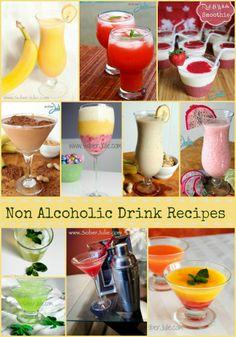 My Top 10 Non Alcoholic Drink Recipes - @SoberJulie.com #drinkrecipe #mocktail #smoothie