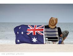 Australia Beach Flag #Australia.so love this pic.