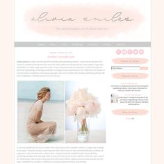 See this Template in action - http://oliviasmilessm.blogspot.com/  **INSTANT DOWNLOAD via etsy after your payment has cleared**  ► This theme is
