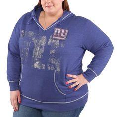 eaf514bbe Women s New York Giants Majestic Royal Blue Plus Size Crossblock Pullover  Sweatshirt