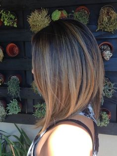 Great cut and color! Bronde long bob by Jackie!