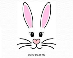 Check out our bunny svg selection for the very best in unique or custom, handmade pieces from our digital shops. Bunny Painting, Bunny Drawing, Bunny Templates, Templates Printable Free, Bunny Crafts, Easter Crafts, Easter Drawings, Face Template, Bunny Face