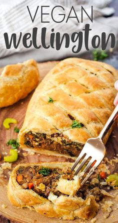 Vegan Wellington that is so dang flavorful and perfect for the holidays! Made with lentils, sunflower seeds, kale, and more tasty ingredients. via @karissasvegankitchen Vegan Dinner Recipes, Gourmet Recipes, Whole Food Recipes, Vegetarian Recipes, Cooking Recipes, Healthy Recipes, Keto Recipes, Cooking Ham, Cooking Fish