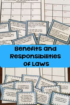 Benefits and Responsibilities of Laws - Use this 26 page resource with your 3rd, 4th, or 5th grade classroom or home school students. It includes a reading passage, discussion questions, and two activities that will help students understand the benefits and responsibilities of laws. It matches the Ohio's Learning Standards for Fourth Grade Social Studies. Also great for history, government, or civics lessons. {third, fourth, fifth graders}