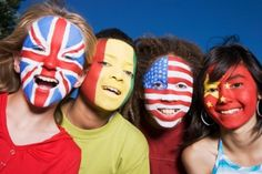 Flag Face Painting Designs: Flag Painting Designs: Around the World Kids Around The World, We Are The World, Face Painting Designs, Paint Designs, Nino Miraculous Ladybug, International Youth Day, Flag Painting, The Face, Flag Face