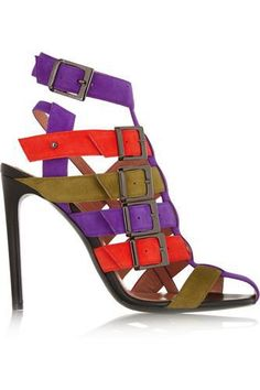 Martor suede sandals #shoes #covetme #rolandmouret