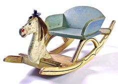 19th century paint decorated rocking horse