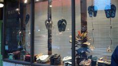 Hanging Footwear Window
