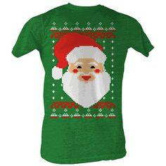 Christmas Big Santa Claus Face 8-Bit