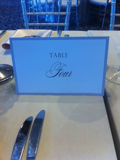 Love this table number and mixing script and BOLD fonts.  Writing out the actual number of the table gives an elegant flare for a luxury wedding.  By Sunrise Styling