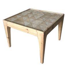 Adagio Checkered Square End Table - NPD Furniture
