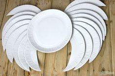 Paper plate angel or cupid wings