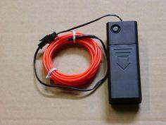 Electroluminescent Wire, Novelty Lighting, Neon Glow, Strobing, Save Energy, Lamp Light, Anaconda, Red, Amazon
