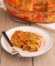 High-Protein Zucchini Parmesan (primal, vegetarian & gluten-free)     #TheIronYou