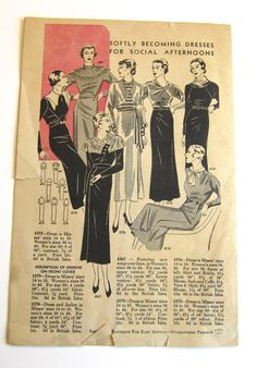 Simplicity Patterns booklet, November 1934 featuring Simplicity 1575, 1567, 1576, 1579 and 1573