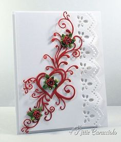 card by Kittie Caracciolo.... would make a lovely engagement, wedding or anniversary card