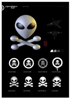 SpacePirates Logo usage, Design by: 7e55e