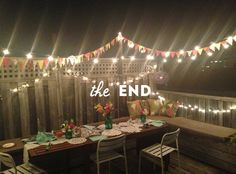 Events summer rooftop dinner party the sweet escape for Terrace party decoration