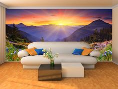 Wall Murals Sunset Country