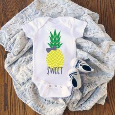 Sweet Pineapple Cute Adorable Unisex Baby Onesie® Great Baby Shower Gift #Cutebabyonesies #cutebabyonesies #etsy #clothing #bodysuit #children #babyonesies #stateonesies #babyonesie #etsyseller #customer #etsyshop #onesie #babybodysuit #newborn #babyshowerthemes #bedifferent Cute Baby Onesies, Cute Baby Girl, Cute Baby Clothes, Cute Babies, Baby Shower Themes, Baby Shower Gifts, Baby Gifts, Unisex Baby, Baby Bodysuit
