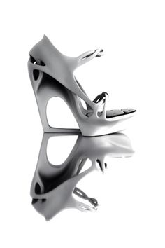 Morphogenesis 3D printed shoe Pauline van Dongen  #shoes #white