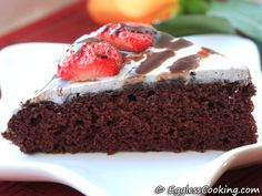 Vegan Chocolate Cake - easy and delicious (not the frosting)