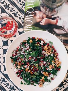 Style...Camilla Pihl // pomegranate and nuts salad