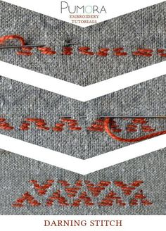 Pumora's lexicon of embroidery stitches: the darning stitch