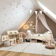 Gorgeous room by the lovely Yvonne Neutral tones with dusty pink touches and ohhh how great does the Victorian Dollhouse fit in? Childrens Room Decor, Baby Room Decor, Home Interior, Interior Design Living Room, Victorian Terrace Interior, Victorian Nursery, Tip Top, Toddler Rooms, Victorian Dollhouse