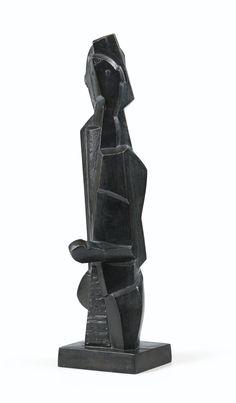 Henri Laurens 1885 - 1954 LE PETIT BOXEUR signed H.L. and numbered II  bronze height : 43 cm ; 16 7/8 in. Executed in 1920. LEGGI LA SCHEDA DI CONSERVAZIONE