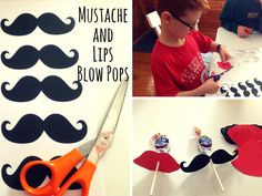 Mustache and Lips Blow Pops