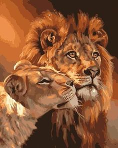 Cheap the paintings, Buy Quality art pictures directly from China diy painting Suppliers: Frameless The Lion Animal DIY Painting By Numbers Kits Coloring Oil Painting On Canvas Drawing Home Artwork Wall Art Picture King Painting, Family Painting, Love Painting, Oil Painting On Canvas, Canvas Art, Diy Canvas, Painting Abstract, Living Room Canvas Painting Ideas, Canvas Frame