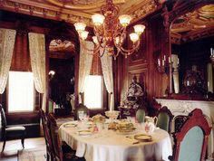 From The Victorian Elijah Thomas Webb Home here is Victoria Mansions beautiful formal dining room.