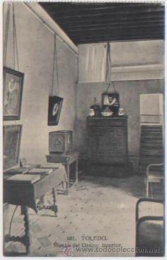 POSTAL TOLEDO CASA DEL GRECO INTERIOR MUSEO ED. H.A.E. N0 101 (Postales - España - Castilla La Mancha Antigua (hasta 1939) - Toledo)